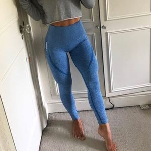 Gymshark original seamless blue leggings Small